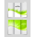 Tri-fold brochure template design vector image vector image