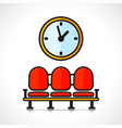 waiting room symbol concept vector image