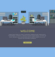 Welcome concept in flat style design