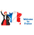 welcome to france vector image vector image