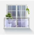 window with fenced balcony
