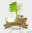 Save the world Tree on a deforested globe and vector image