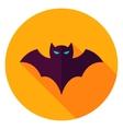 Scary Bat Circle Icon vector image
