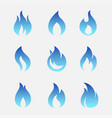 gas flames icons vector image