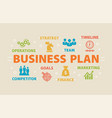 business plan concept with icons vector image