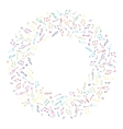Circle colorful music frame in doodle style vector image
