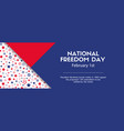 national freedom day banner facebook cover size vector image