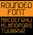 rounded font poster vector image