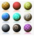 set of various color glossy sphere isolated on vector image