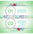 back to school infographics vector image vector image