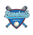 baseball logo with text space for your slogan vector image vector image
