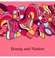 Beauty and fashion seamless pattern with cosmetic vector image vector image