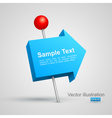 Blue arrow pushpin 3d vector | Price: 1 Credit (USD $1)