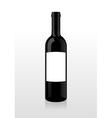 bottle wine blank vector image vector image