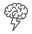 brainstorm line icon business and idea creative vector image vector image