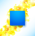 Bright blue summer poster on a shiny cheerful vector image vector image