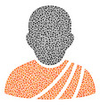 buddhist monk composition of dots vector image