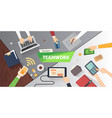 business people team scene teamwork in modern vector image vector image
