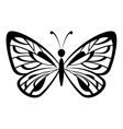 butterfly black pictograph vector image vector image