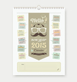 Calendar 2015 Fathers Day concept design vector image vector image