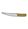 comic cartoon kitchen knife vector image vector image