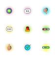 Cross and tick icons set pop-art style vector image