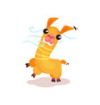 cute friendly llama alpaca cartoon character vector image