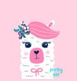 cute llama seamless pattern print design vector image vector image