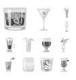 design bar and shaker symbol set bar vector image