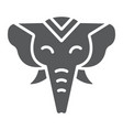 elephant glyph icon zoo and wildlife african vector image vector image
