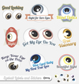 Eyeball Labels and Icons vector image vector image