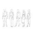 Fashion collection of clothes female and male