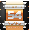 Fifty four years anniversary celebration golden vector image vector image