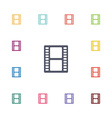 film flat icons set vector image vector image