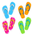 flip flop set on white background vector image