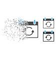 fragmented dot halftone refresh calendar day icon vector image vector image