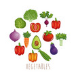 fresh vegetables healthy food vector image vector image