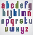 geometric alphabet bold and condensed font in vector image