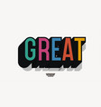 great font 3d bold style modern typography vector image vector image