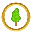 Green tree icon vector image vector image