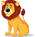 happy lion cartoon vector image