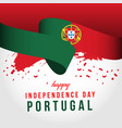 happy portugal independent day template design vector image vector image