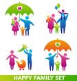 HappyFamilySet vector image vector image