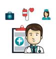 health professional avatar icon vector image
