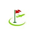 holiday golf logo icon design vector image vector image