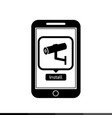 icon of smart phone mobile security application vector image vector image