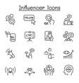 influence people brand ambassador icon set vector image vector image