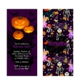 Invitation for kids Halloween party vector image