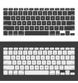laptop keyboards vector image vector image