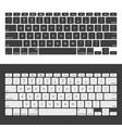 laptop keyboards vector image